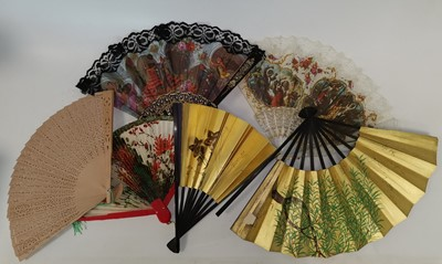 Lot 84 - Spanish, Japanese, and Chinese hand fans.