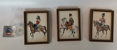 Lot 85 - Three 'Napoleonic Wars' framed cavalry prints...