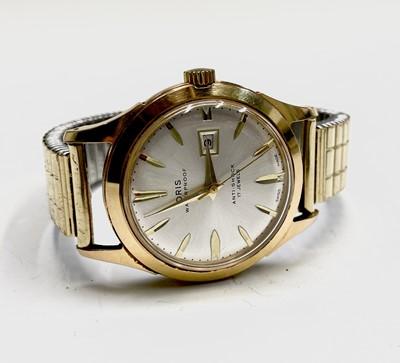 Lot 34 - An Oris 17 jewel gentleman's date gold-plated...