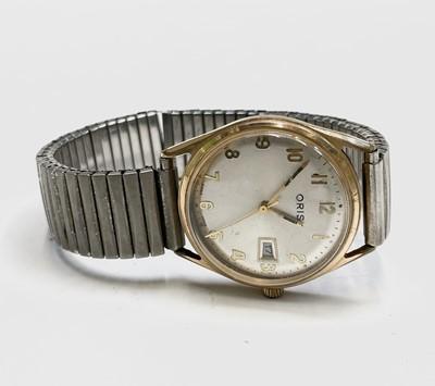 Lot 22 - An Oris 7 jewel gentleman's date gold-plated...