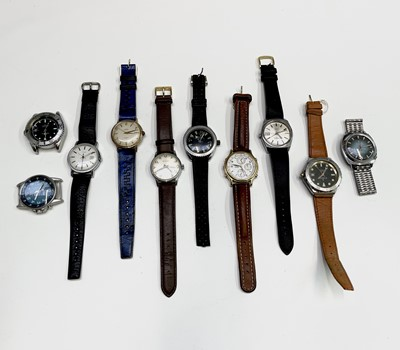 Lot 95 - Bag of watches and a watch case