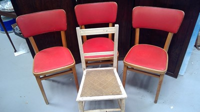 Lot 20 - Three retro dinning chairs plus one other.