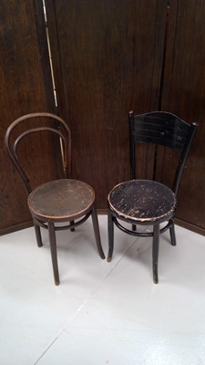 Lot 21 - Two bentwood cafe chairs.