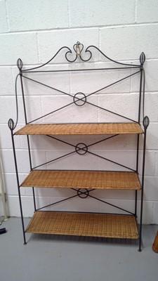 Lot 16 - A set of folding shelves, height 150cm width...