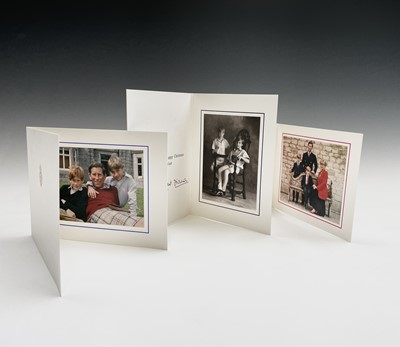 Lot 433 - Three Royal Christmas cards, two signed*...