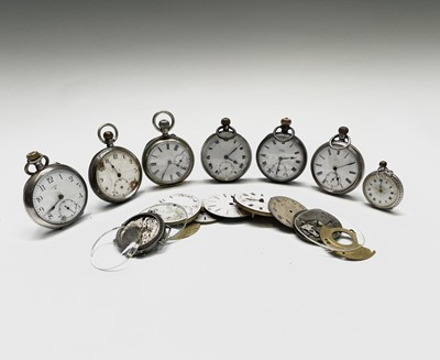 Lot 16 - A silver trench cased wrist watch, Diameter...