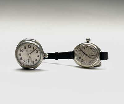 Lot 29C - Two American Ingersol military wristwatches...
