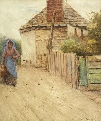 Lot 95 - Frederick McNamara EVANS (1859-1929) Woman...