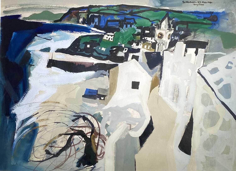 Lot 7 - Tony GILES (1925-1994) Porthleven (1980) Mixed...