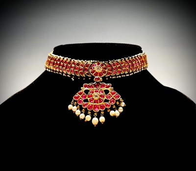 Lot 48 - An impressive Ceylonese ruby and pearl...