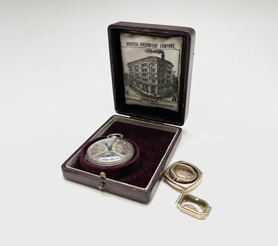 Lot 37 - A Victorian key wind open face pocket watch...