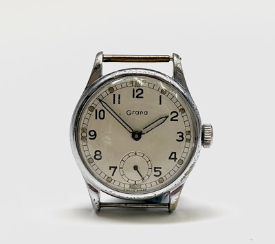 Lot 40 - A Grana A.T.P. watch in nickel-plated case...