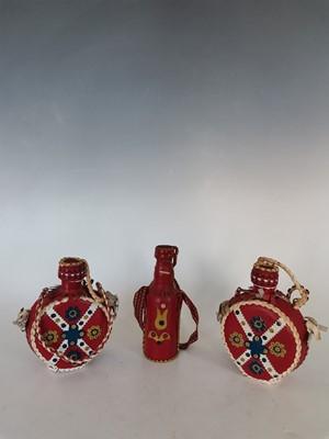 Lot 9 - Three Eastern European vintage leather folk...