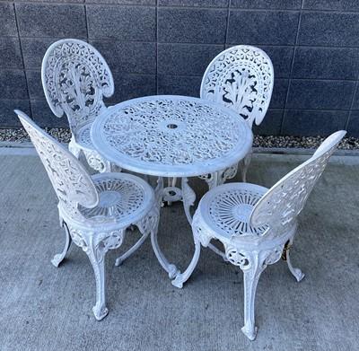Lot 8 - An ornate Victorian style Cast aluminium...