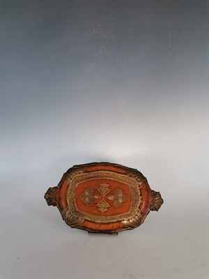 Lot 15 - A small vintage Italian handpainted wooden tray.