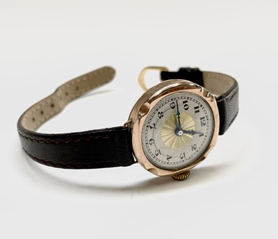 Lot 51 - Seven ladies gold cased wrist watches. Phillip...