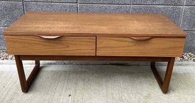 Lot 68 - A G-Plan teak small side table with two...
