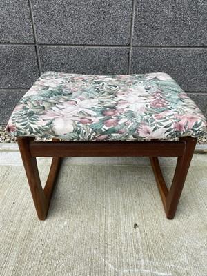 Lot 70 - A G-Plan teak upholstered stool, height 42cm