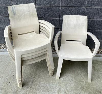 Lot 74 - Six Jardin outdoor plastic chairs.