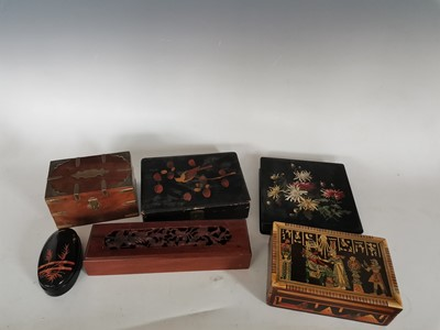 Lot 94 - A variety of vintage decorated wooden boxes