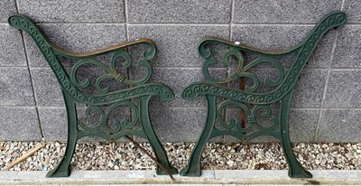 Lot 76 - A pair of cast iron bench ends.