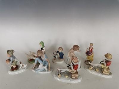Lot 96 - 'Wallendorf' West Germany porcelain figurines...