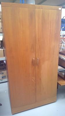 Lot 87 - A G-plan teak wardrobe, height 178cm width...