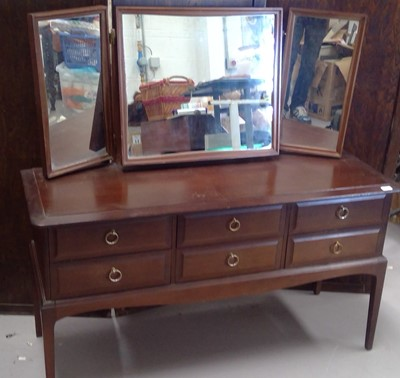 Lot 62 - A STAG dressing drawers with triple mirror,...
