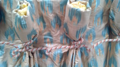 Lot 10 - A large pair of satin and silk interlined...