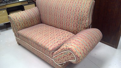 Lot 11 - A late Victorian drop end two-seater sofa,...