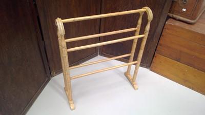 Lot 59 - A Victorian pine towel rail, height 80cm