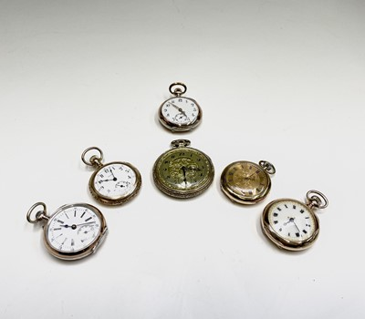 Lot 11 - Two silver and gilt cased keyless watches...