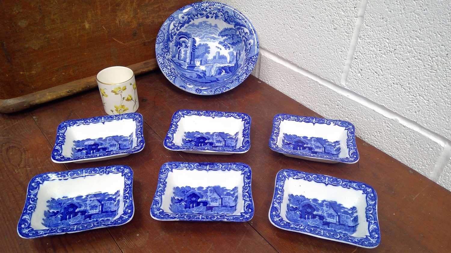 """Lot 37 - Six Blue and white""""George Jones and Sons..."""