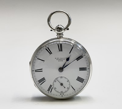 Lot 53 - An English fusee silver pocket watch by M Mc...