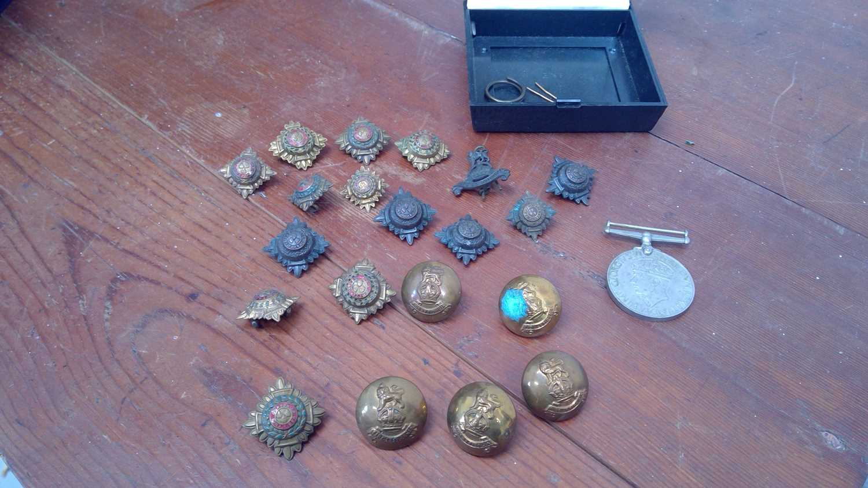Lot 4 - Original WWII British Army Officer Metal...