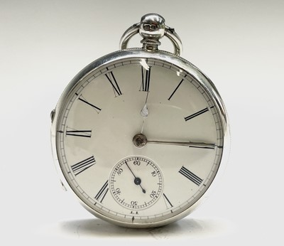 Lot 46 - An English fusee silver pocket watch, movement...