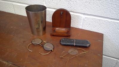 Lot 32 - A pint mug stamped VR 239 LCC, mahogany pocket...