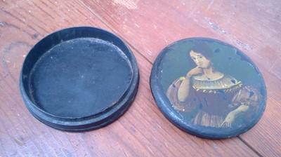 Lot 8 - An early 19th century papier mache circular...