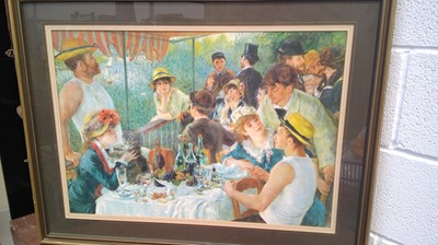 """Lot 29 - A large framed print """"The luncheon of the..."""