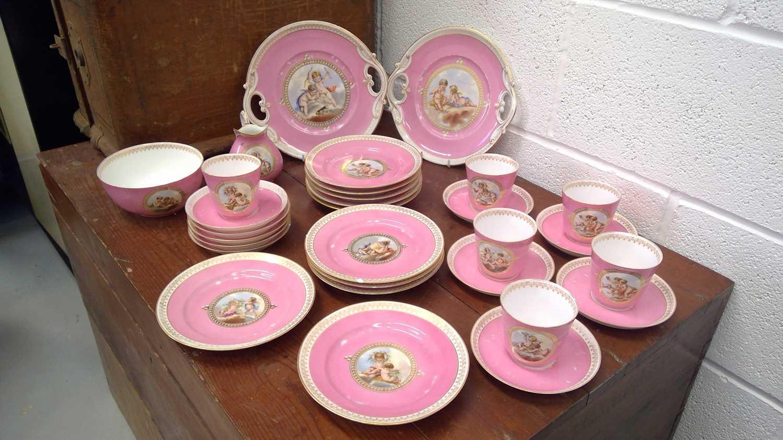 Lot 16 - A 19th-century continental porcelain part...