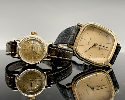 Lot 45 - A Ladies 18ct gold automatic wristwatch...