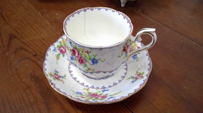 """Lot 28 - A Royal Albert """"Petit Point China"""" cup and..."""