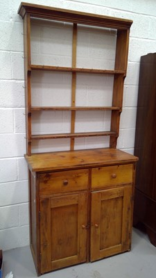 Lot 3 - A late 19th early 20th-century pine dresser...