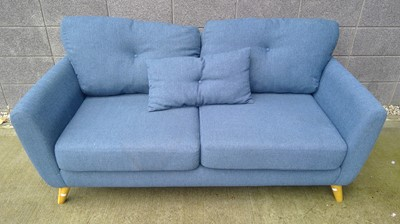 Lot 2 - A two-seater upholstered sofa height 72cm...