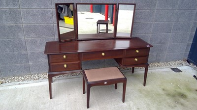 Lot 23 - Stag dressing table with triple mirrors and a...