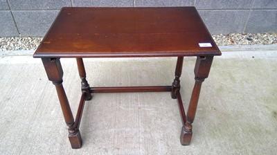 Lot 39 - Oak occasional table, height 54cm width 59cm...