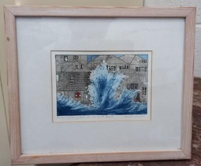 Lot 12 - 'Spring Tide at Lembeth Walk' a limited...