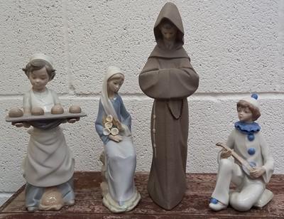 Lot 3 - Lladro 2060 monk figurine, another Lladro...