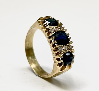 Lot 15 - An 18ct gold Victorian style ring set with...