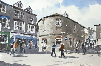 Lot 90 - Ken HAYES (1962) Market Place, St Ives...